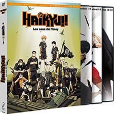 Colección de Dvds y blu-ray con todos los capitulos de la serie de haikyuu