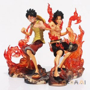 Luffy y Ace en marineford Figuras de One Piece Merchandising de One Piece