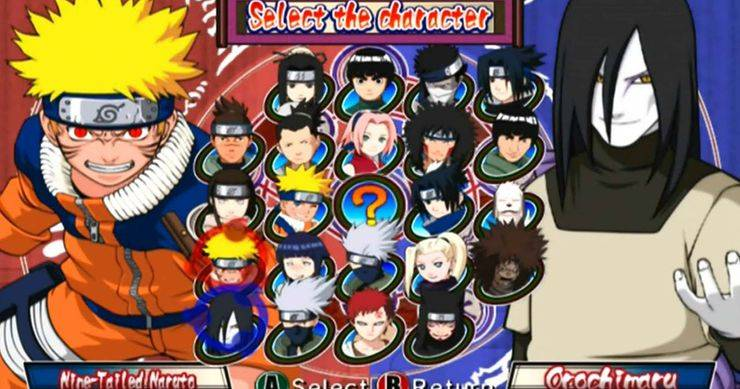 como era Naruto Clash of Ninja
