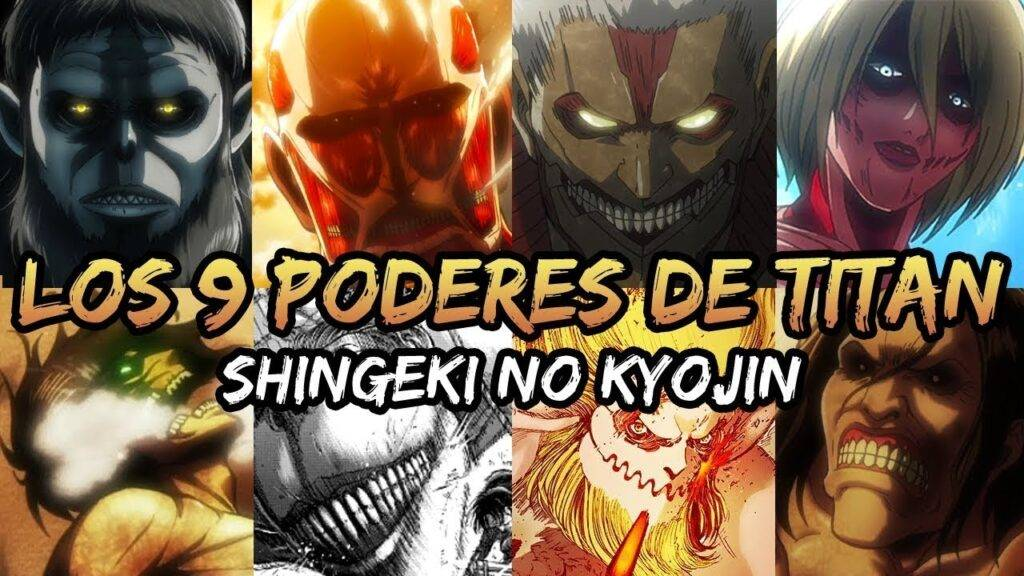 los 9 titanes shingeki no kiojin