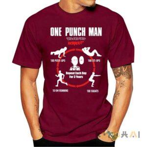 Camiseta One Punch Man para hombres (diferentes colores) One Punch Man Camisetas de anime