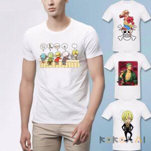 Camisetas básicas de los Mugiwaras One piece Camisetas de anime Camisetas de One Piece Merchandising de One Piece Ropa