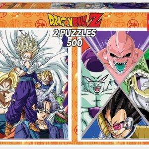 Educa Borrás – 2 Puzzles de 500 Piezas Dragon Ball Merchandising de Dragon Ball Productos premium